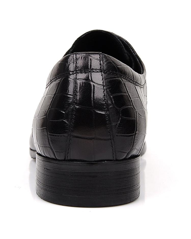 Derby Vaca En Trabajo Negro De Brown Manera Black Boda Mens Señaló Toe Zapatos 44 Relieve Cuero Genuino Tamaño brown La z68pg