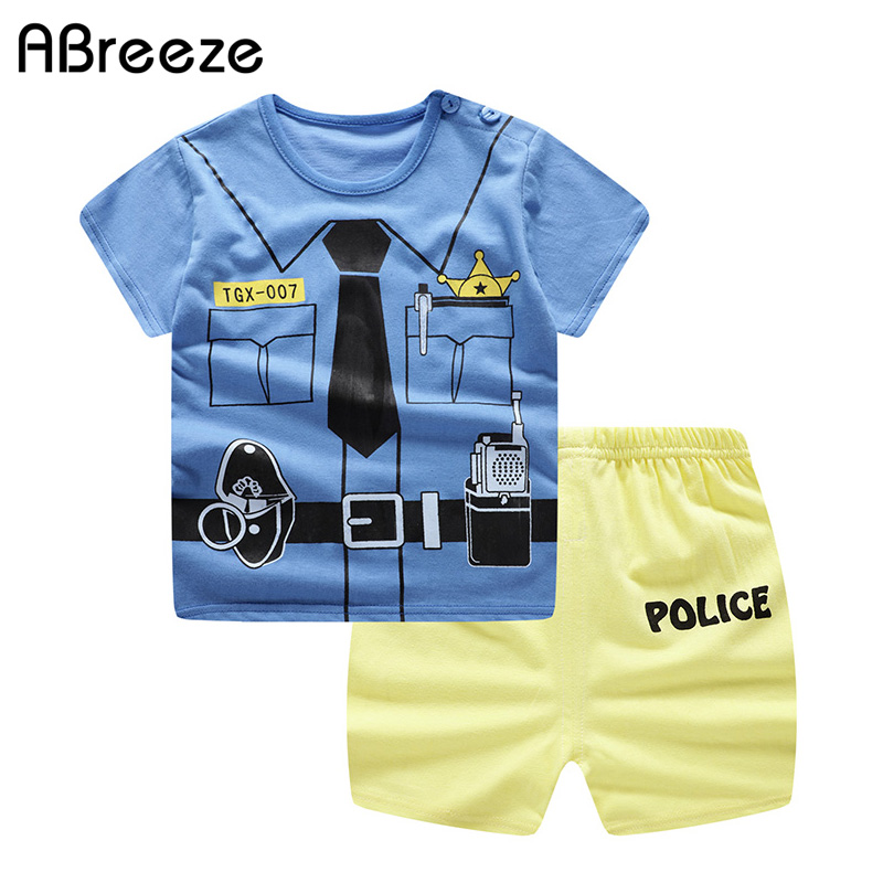 2019 Baby Clothing New Summer Baby Clothes Sets For Boys & Girls Cotton Cartoon Baby Sets 0-4Y Little Child Clothes 2PCS