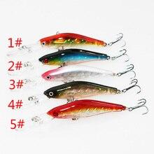 Soloplay 1PCS Super Quality 5 Colors 9.5cm 7g Hard Bait Minnow Fishing lures Bass Fresh Salt water 6#High Black Hook