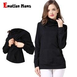 Emotion Moms invierno cuello alto ropa de maternidad tops maternidad ropa de enfermería top ropa de embarazo para mujeres embarazadas