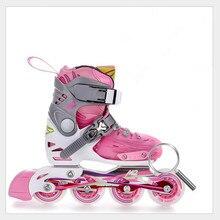 Children Roller Skating Shoes S/M/L Roller Skate Shoes Adjustable Road Sliding/Slalom Inline Skates Shoes