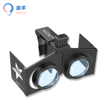 2016 new black folding portable font b VR b font 3D glasses adjustable font b VR