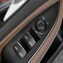 BJMYCYY car styling ABS 7PCS/SET Car window lift buttons decorate sequins For Buick Regal  2018 2019 accessories