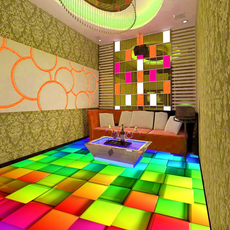 Free Shipping Colorful 3D floor stereo non-slip high-quality moisture-proof living room restaurant mural bedroom wallpaper  free shipping basketball function restaurant background wall waterproof high quality stereo bedroom living room mural wallpaper