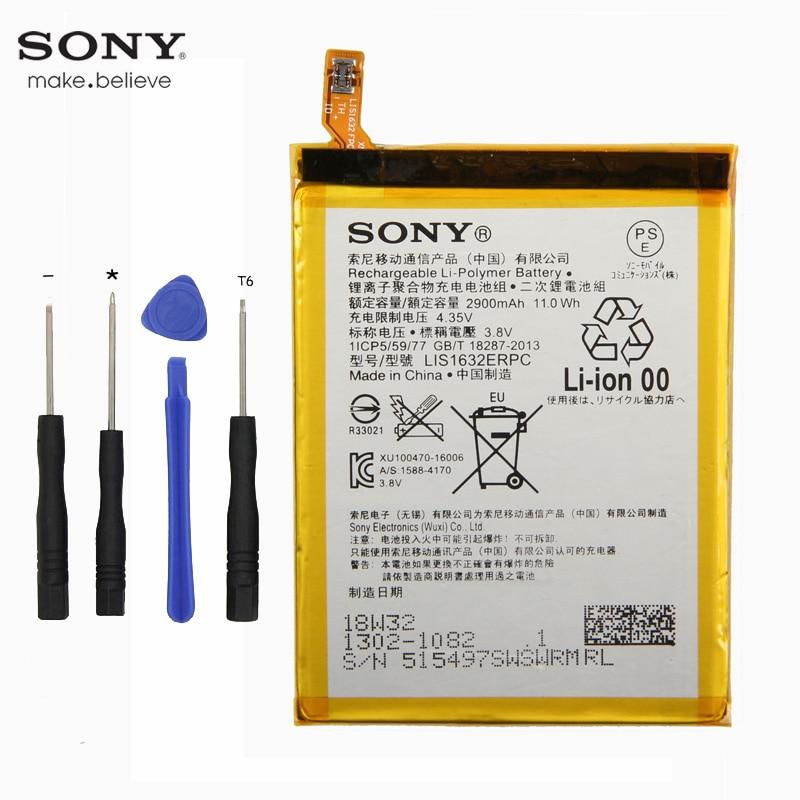 Original Sony LIS1632ERPC Battery For Sony Xperia XZ XZs F8331 F8332 2900mAh