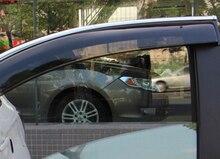 Автомобиль дождь щит изменение специальные брови от дождя 4 шт. комплект для MITSUBISHI ASX Аксессуары 2011 2012 2013 2014 2015 2016