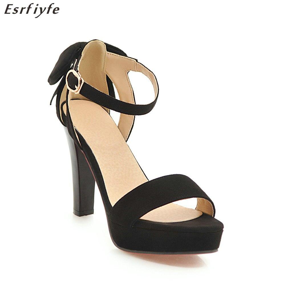 82ee0f83e3284 ... fashion leather sneakers buty shoes boy  2018 Heels High Ankle Toe  Sandals Dress 43 Strap Sandals Summer ESRFIYFE New Chunky Women Big ...