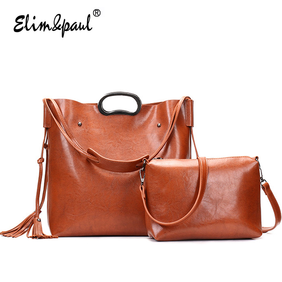 ELIM&PAUL Brand Designer Women Purses Handbags Famous Brands 2018 Fashion Cross body bags Leather Handbags bolsa  YL-B02 elim