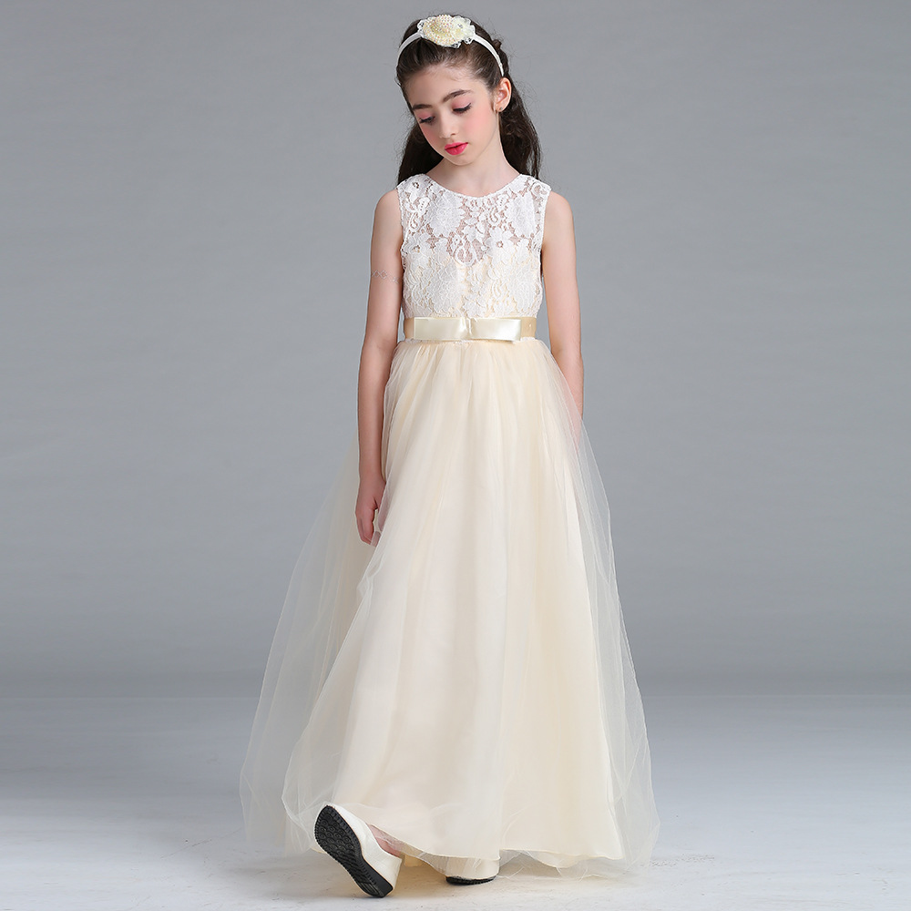 Cute A-Line Sleevless Lace   Flower     Girls     Dresses   Princess Style   Dress   For First Communion