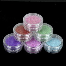 6pcs/set Clear Transparent Colorful Mixed Trend Caviar 3D Glass Caviar Nail Beads Nail Art Decorations Micro Beads WY519