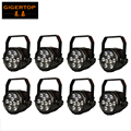 China Stage Lighting 8 Pack 9X18W RGBWY UV 6 IN 1 Flat Slim Battery LED Par Stage Lighting IP65 Waterproof Live Show DJ CE ROHS