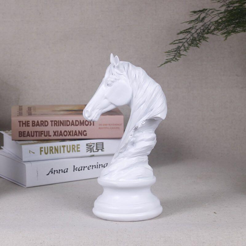 Statuen & Skulpturen WunderschöNen Moderne Einfache Tiere Kunst Skulptur Pferd Kopf Statuen Harz Handwerk Hause Dekoration Ornamente Kreative Hochzeit Geschenke R658 HeißEr Verkauf 50-70% Rabatt