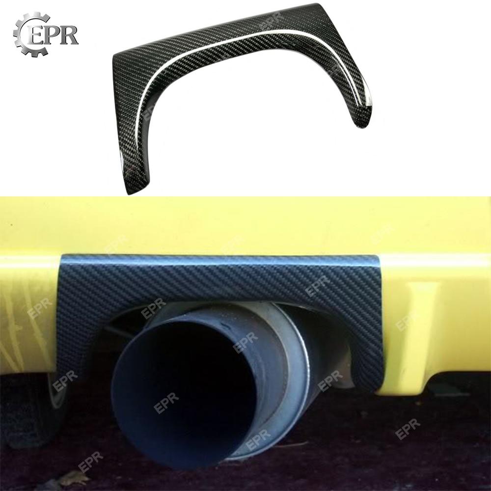 Pour Nissan Skyline R34 GTR pare-choc arrière en Fiber de carbone bouclier thermique (OEM seulement) pièce de réglage pour GTR R34 couvercle d'échappement en carbone