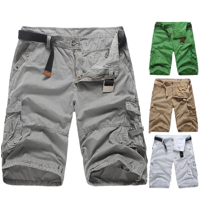 Mens Casual Shorts Male Loose Work Shorts Man Military Short Pants 2018 Summer Male Casual Cargo Shorts