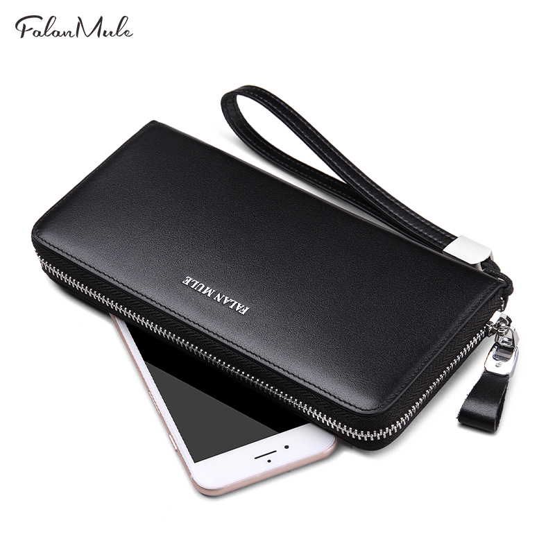 FALAN MULE Fashion Wallet Brand Wallet Men Genuine Leather Wallet Quality Purse Long Coin Purse Luxury Men Purse For iPhone 7 S 2016 new arrival brand short crocodile men s wallet genuine leather quality guarantee purse for male coin purse free shipping