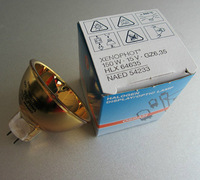 15V150W For Osram HLX64635 GZ6.35 Photo Optic Lamp Halogen Gilded Lamp Bulb Cup Free Tracking
