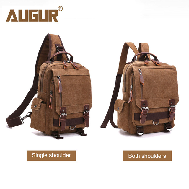 bcdbbcf0fb AUGUR New Fashion Crossbody Single Shoulder Bag Canvas Back Bag Male Travel  Chest Bags Rucksack For