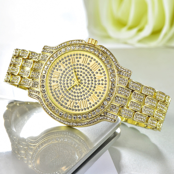 HombreReloj Pulsera De Pzalote MujerDiseño 1 Cuarzo Oro Acero Relojes Para Moda Diamantes Inoxidable byY7gf6v