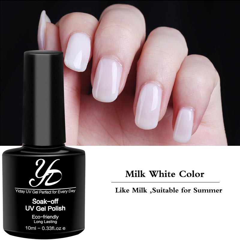 Yiday 1pcs Milk White Soak off UV Gel Nail Polish Nail Art ...