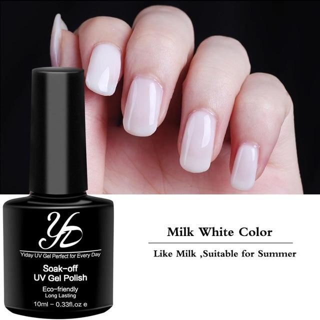 Yiday 1pcs Milk White Soak off UV Gel Nail Polish Nail Art ...