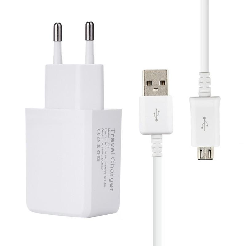 GEUMXL 5V 2.4A EU Plug Wall Travel Charger MICRO USB-kabel För LG G2 - Reservdelar och tillbehör för mobiltelefoner