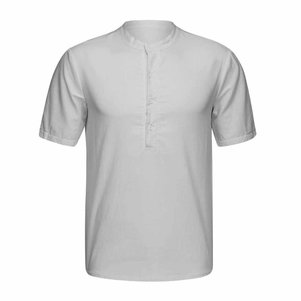 2019 新着夏半袖シャツメンズ綿 100% ポリエステル白、青無地スリムフィットプラスサイズ襟トップス