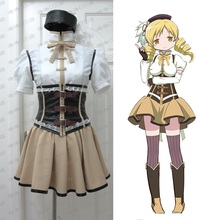 New Anime Puella Magi Madoka Magica Tomoe Mami Cosplay Costume Halloween Party Costume Adult Costumes for Women Custom Any Size недорого