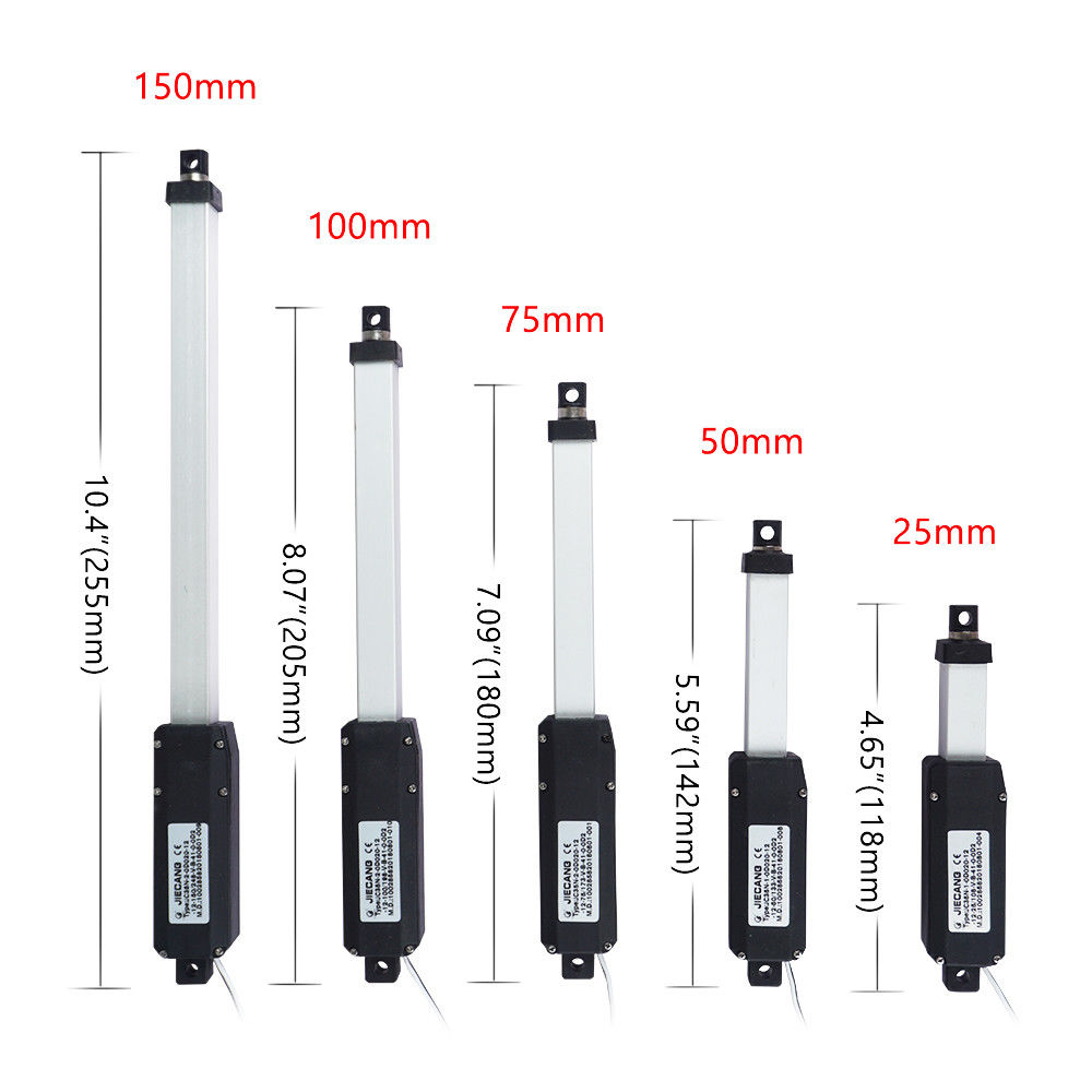 25mm-150mm Electric Micro Linear Actuator 12VDC 4.4 lbs Force Waterproof for Boat Fan Home Appliance25mm-150mm Electric Micro Linear Actuator 12VDC 4.4 lbs Force Waterproof for Boat Fan Home Appliance