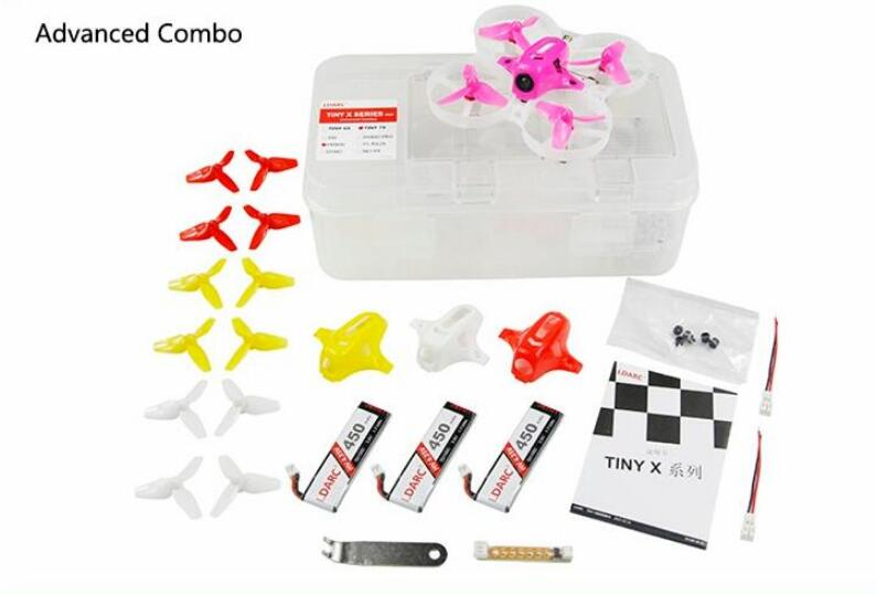 LDARC TINY-7X 75mm RTF RC Micro FPV Racing Quadcopter With Receiver Advanced Version kingkong tiny 7 micro fpv racing quacopter dsm2 receiver yellow