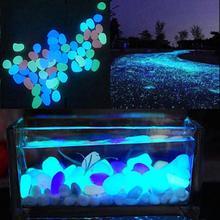 10 шт. светящиеся искусственные камни, камень светится в темноте, аквариумные рыбки, бонсай, садовый декор, украшение для дома