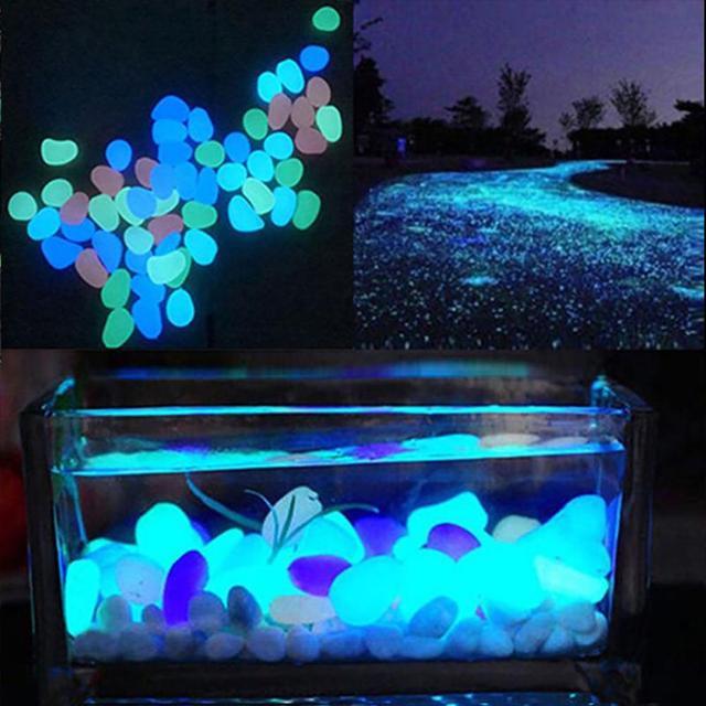 10 Pcs Luminous Glowing Nhân Tạo Sỏi Đá Phát Sáng Trong Bóng Tối Aquarium Fish Tank Vườn Bonsai Trang Trí Nội Thất Nhà Trang Trí