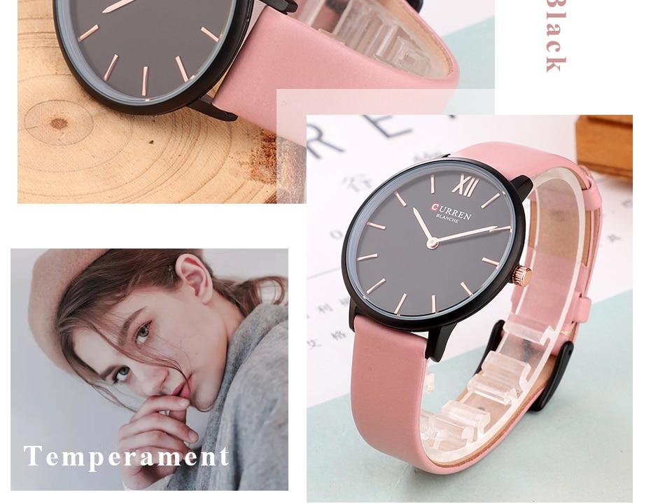 CURREN 9040 PU Leather Analog Watch 12