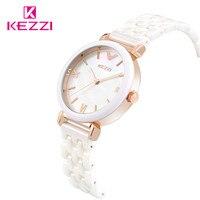 2016 New Design KEZZI Brand Ceramic Set Drill And Store Quartz Dress Watch Women Hot Sale