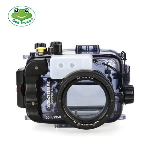 SeaFrogs 60M/195FT Waterproof Underwater Housing Camera Case for Sony A6500 16-50mm lens Compatible with A6000 A6300