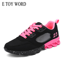 E TOY WORD Women Sneakers 2019 Trend Breathable Casual Shoes Woman Fashion Sports Damping Basket