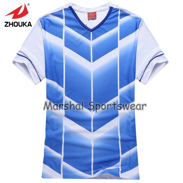 899dbcf674b 2019 Hot sale design in top quality football jersey kids size customizing light  blue color Free