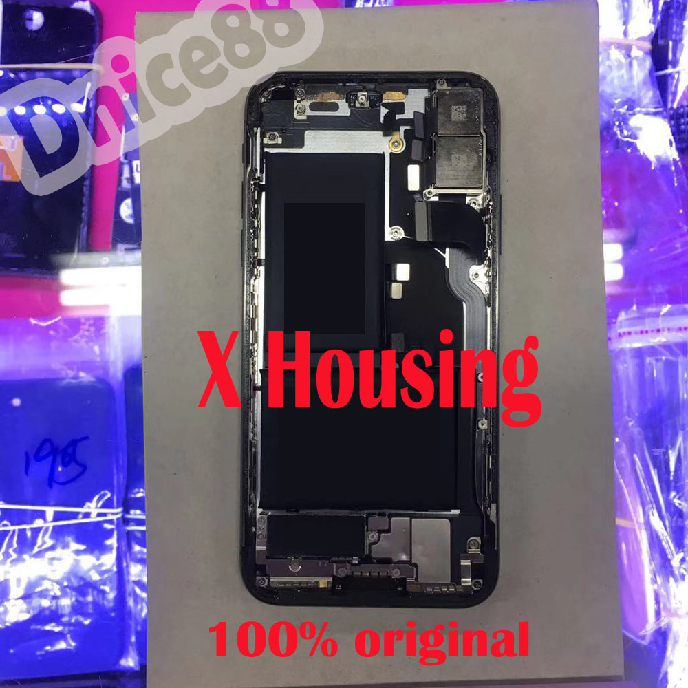Pour la couverture arrière de l'iphone X, y compris la caméra arrière, la batterie et les pièces, est bon pour le logement de l'iphone X, bonne qualité et bon travail