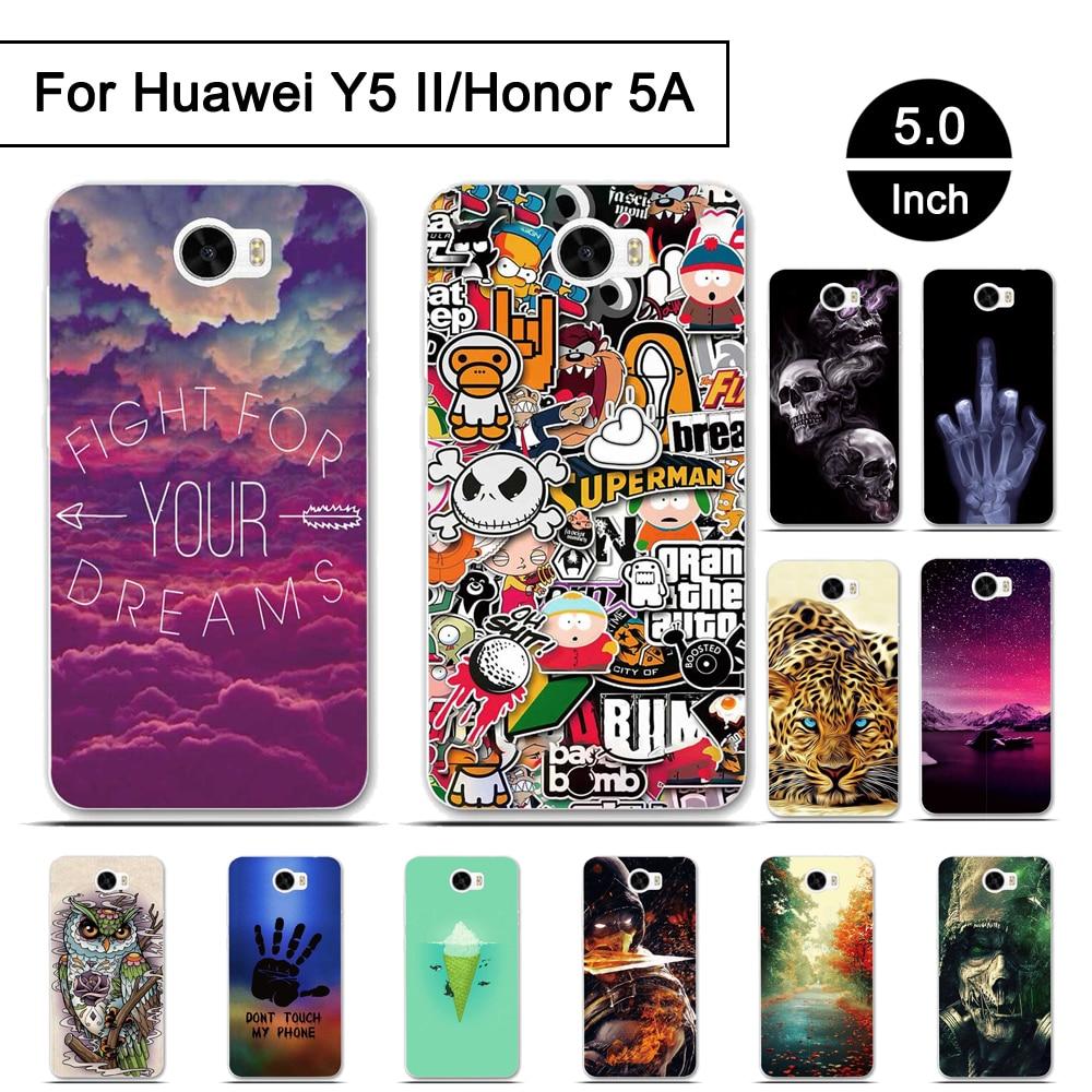 Case For Huawei Y5 II Honor 5A Cover Soft TPU Phone Cases For Huawei Y5II Honor