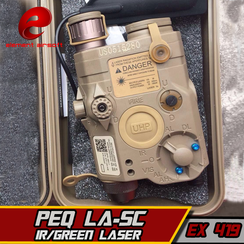 EX419 Element LA-5C PEQ UHP Appearance Green Laser And Flashlight For Hunting IR Laser Tactical Light greenbase m600v ir scout light white light and ir output weapon light led flashlight hunting 400 lumens flashtorch 20mm rail