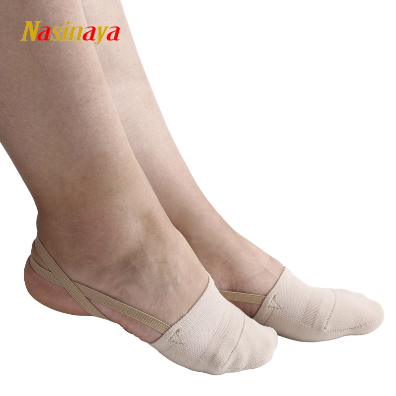 Rhythmic Gymnastics Toe Shoes, რბილი ნახევრად წინდები ნაქსოვი რუპა გინასტიკას პროფესიონალური კონკურენცია ერთადერთი იცავს ელასტიური კანის ფერს