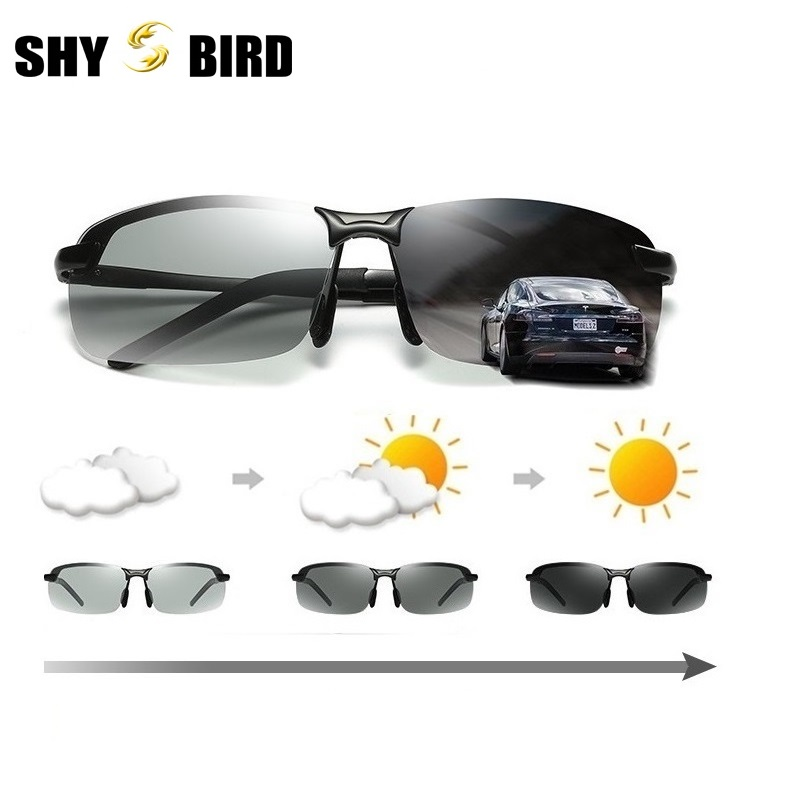 SHYBIRD Photochromic Polarized Men's Sunglasses Driving Glasses Men's Biker Sunglasses fashion sunglasses man 3043