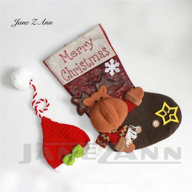 Jane Z Ann Baby photo costume newborn photo cartoon knitted handmade Christmas theme sleeping bag with hat studio accessories 4