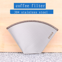 304stainless steel coffee filter Soft and fine metal filter recyclable coffee filter paper/bag portable