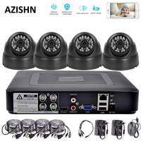 HD 4CH Security System 1080P HDMI AHD DVR 4PCS 720P 1080P AHD Cameras 24IR DOME