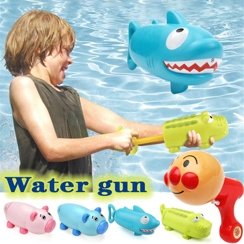 Baby Bath Swimming Toys Kids Cute Animal Water Guns Toys Shark Pig Children Play Water Shooter Guns Summer Swimming Games Toys