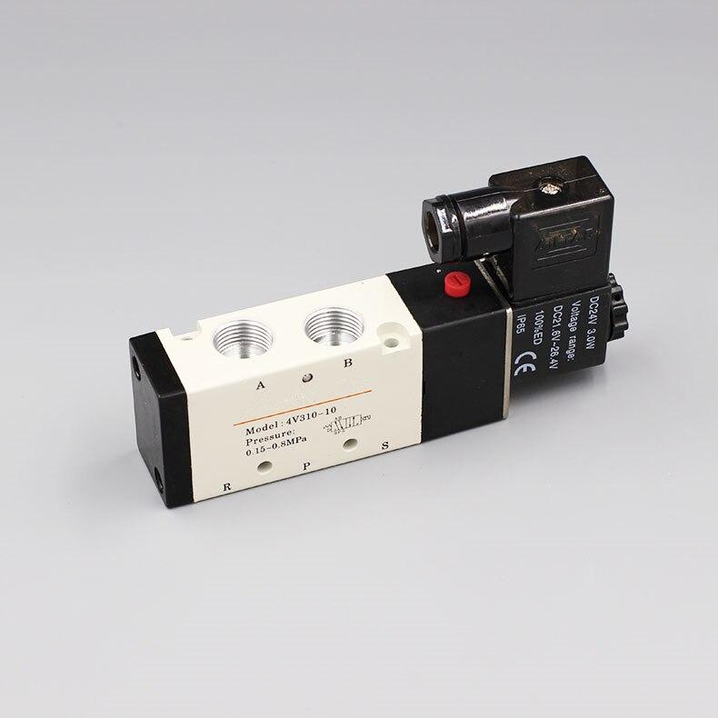Solenoid Valves Air Gas Control Valve 3/8 BSP 2 Position 5 Port 2/5 Way 4v310-10 dhl ems 5 lots fes to myh 5 2 2 3 led myh5223led solenoid valve a1
