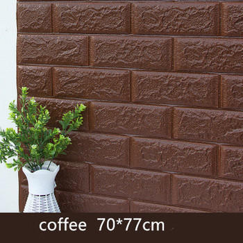 DIY Self Adhensive 3D Brick Wall Stickers Living Room Decor Foam Waterproof Wall Covering Wallpaper For TV Background Kids Room 12