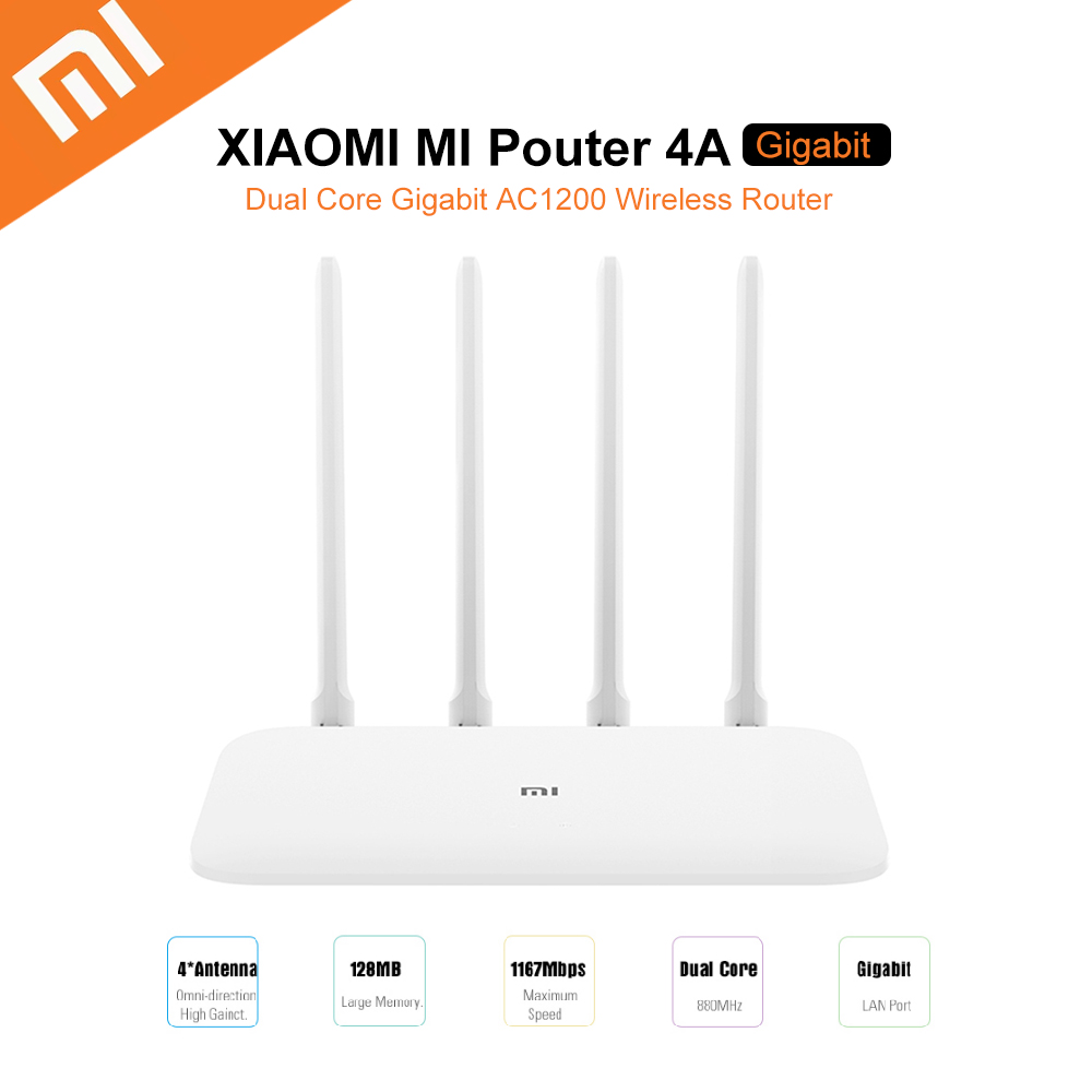 Xiaomi Mi 4A Router Gigabit Edition 2 4GHz + 5GHz WiFi 16MB