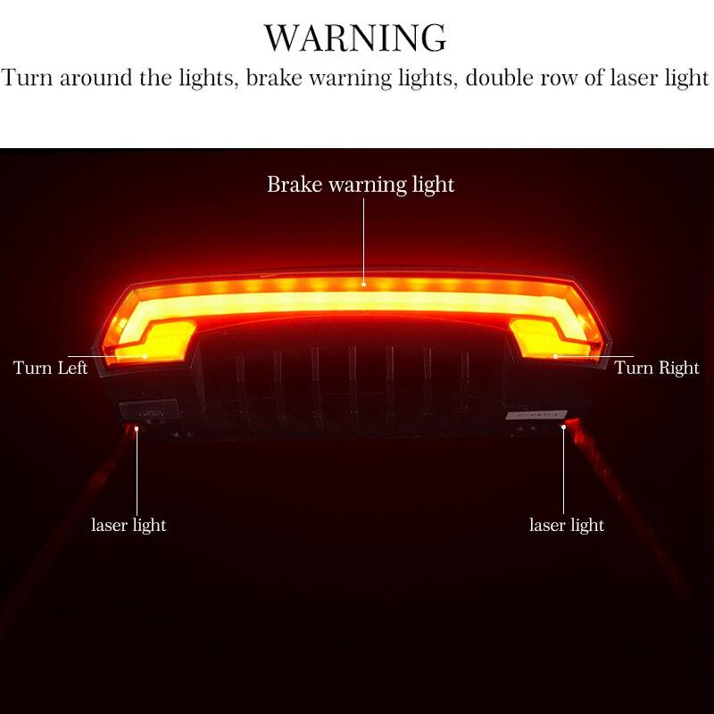 LED Seatpost, Tail Light Wireless  Safety Warning, Bike Waterproof Intelligent, Remote Control Rear, Lamp 3