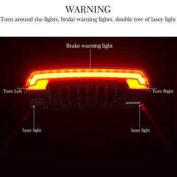 LED Seatpost, Tail Light Wireless  Safety Warning, Bike Waterproof Intelligent, Remote Control Rear, Lamp 8